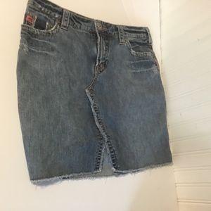 Silver Jeans Skirt Denim Devah Womens Sz 27